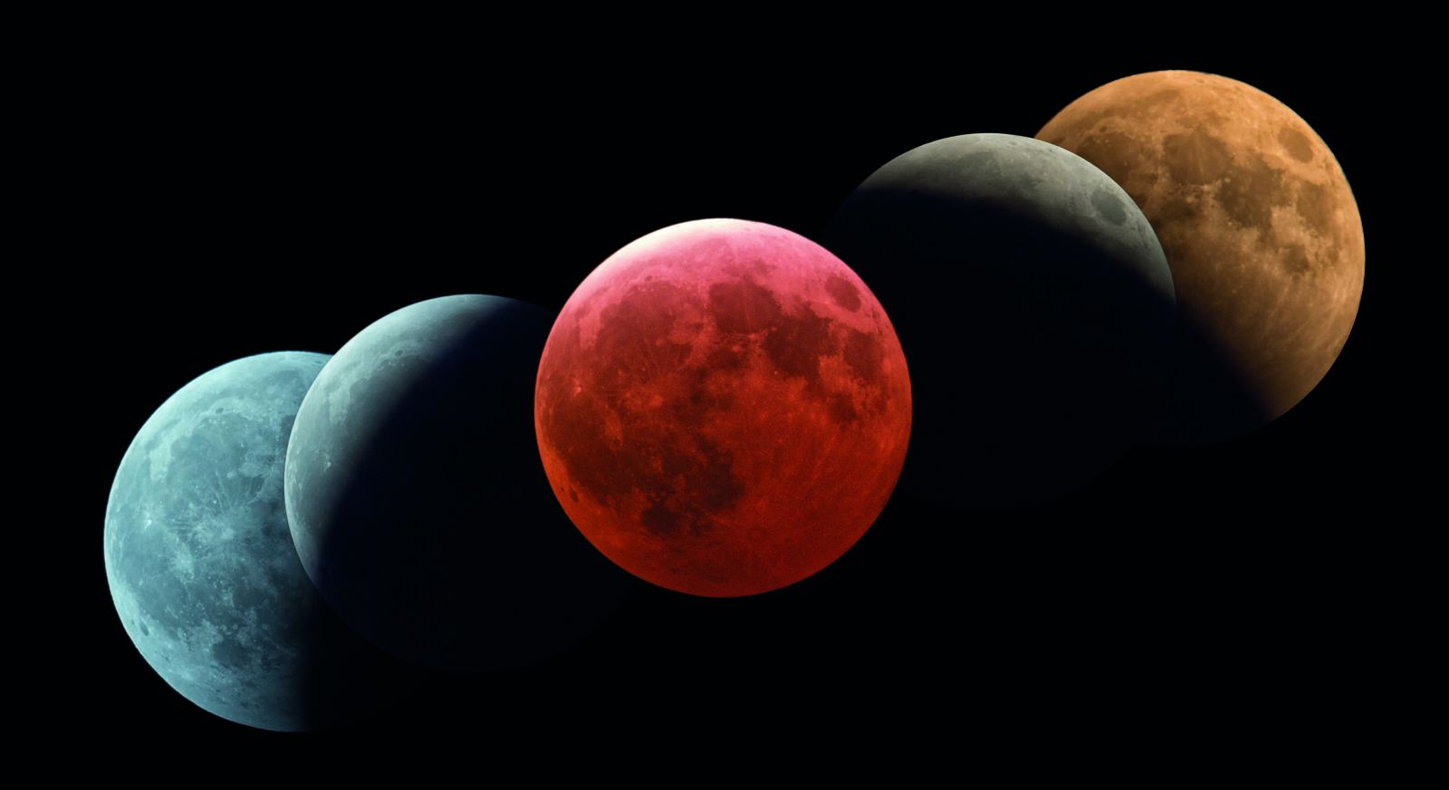 月全食和地球本影摄影